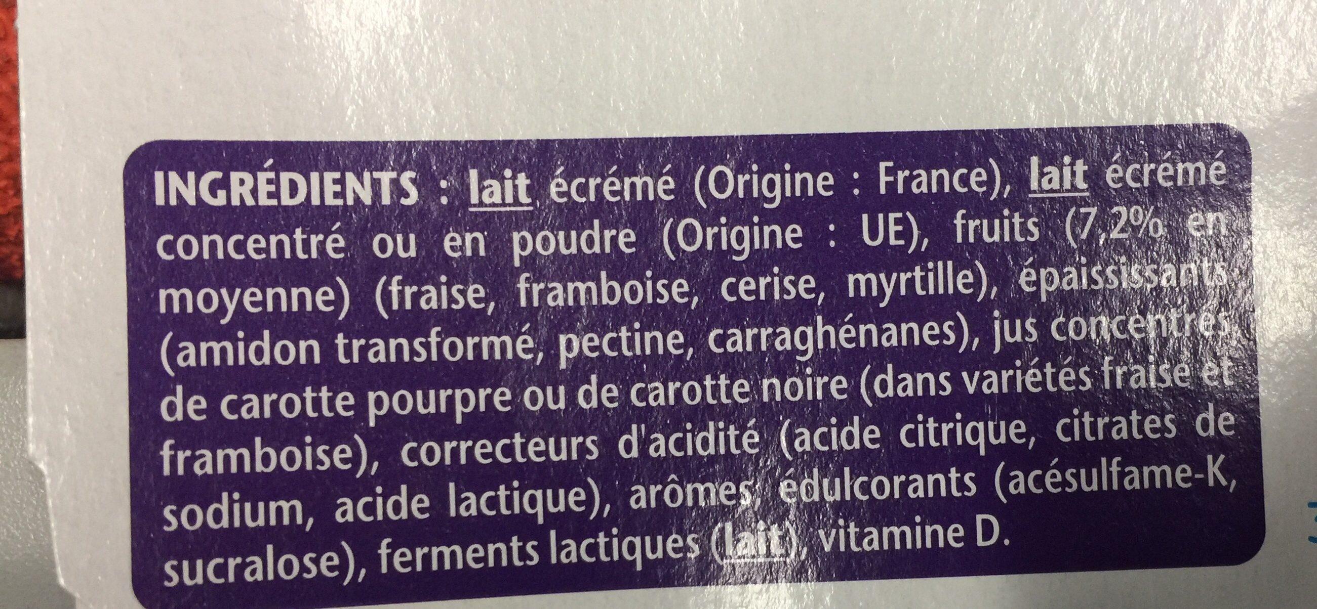 Taillefine au fruits Framboise Cerise Fraise Myrtille (offre spéciale) - Ingredienti - fr