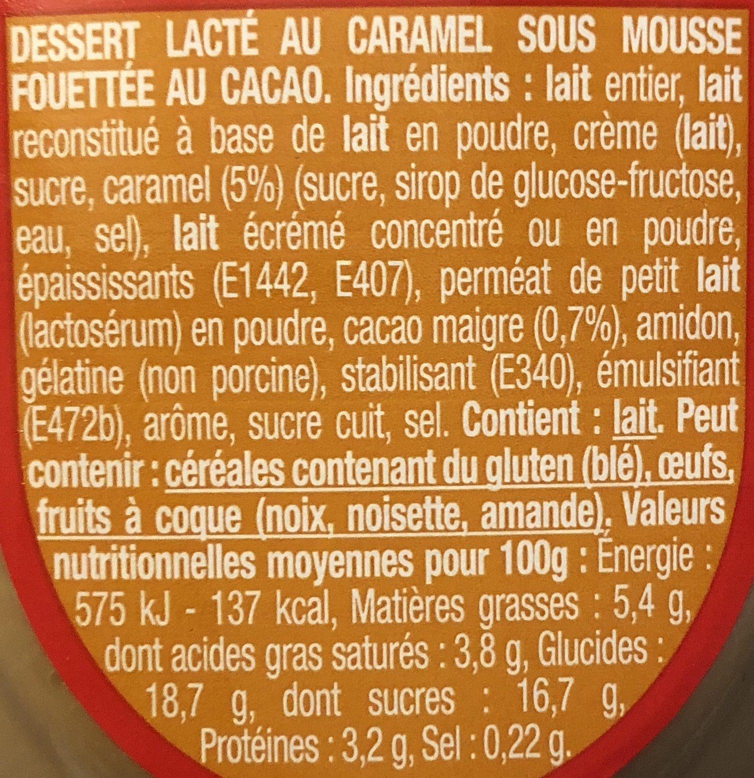 Liegeois caramel - Ingrédients - fr