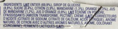 Yaourt Agrumes-Citrus - Ingrediënten
