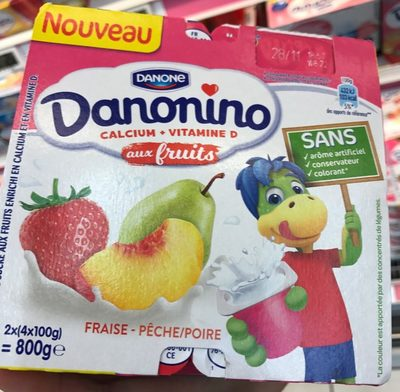 Danonino aux fruits Fraise Pêche/Poire - Product