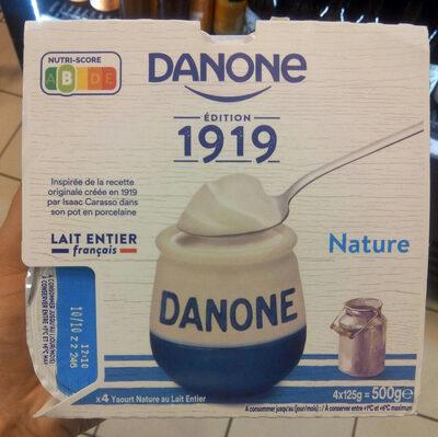 Yaourt au lait entier nature - Product