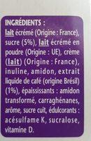 Spécialité laitière au café TAILLEFINE plaisirs - Ingredients - fr