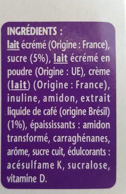 Spécialité laitière au café TAILLEFINE plaisirs - Ingredients