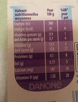 Spécialité laitière au café TAILLEFINE plaisirs - Nutrition facts - fr