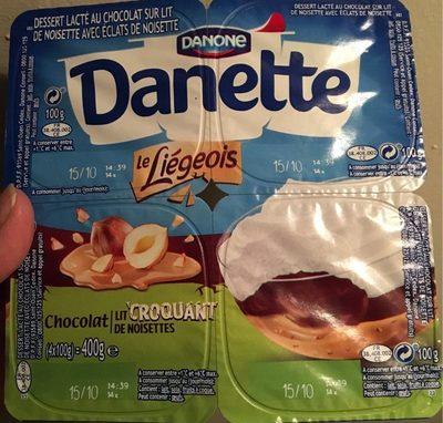 Danette chocolat lit croquant de noisettes - Product