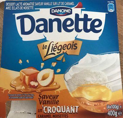 Liégeois Vanille sur Lit Croquant Caramel Noisettes - Produit - fr