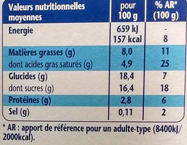 Liégeois Vanille sur Lit Croquant Caramel Noisettes - Informations nutritionnelles - fr