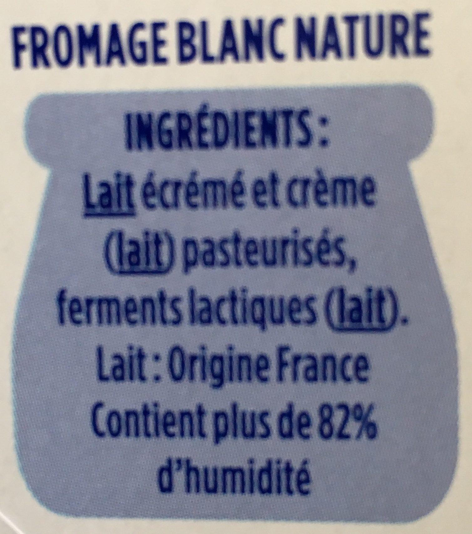 Le Fromage Blanc - Ingrédients