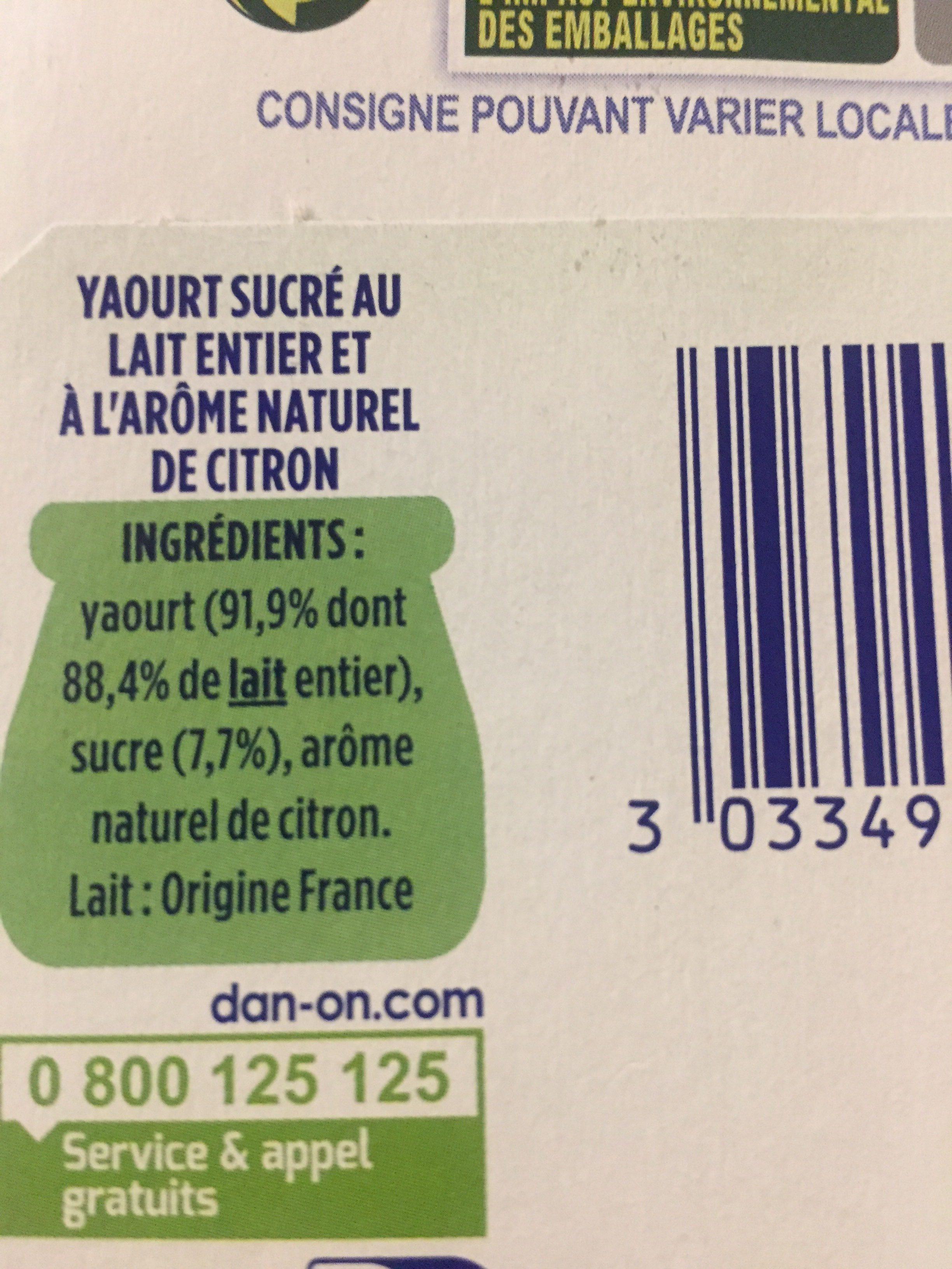 Arome naturel de  citron - Ingredients
