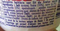 Danio fraise 0% - Ingrédients