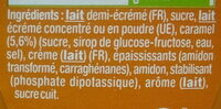 Danette Caramel - Ingrediënten - fr