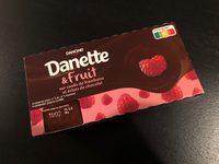 Danette & Fruit sur coulis de framboise et éclats de chocolat - Product - fr