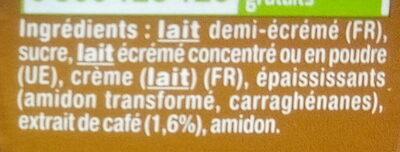 Danette - Ingrédients - fr