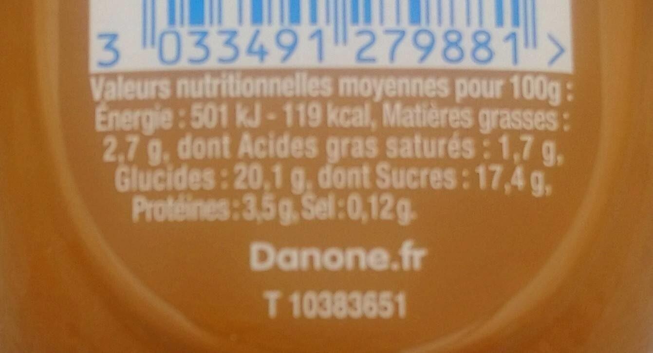 Danette - Informations nutritionnelles - fr