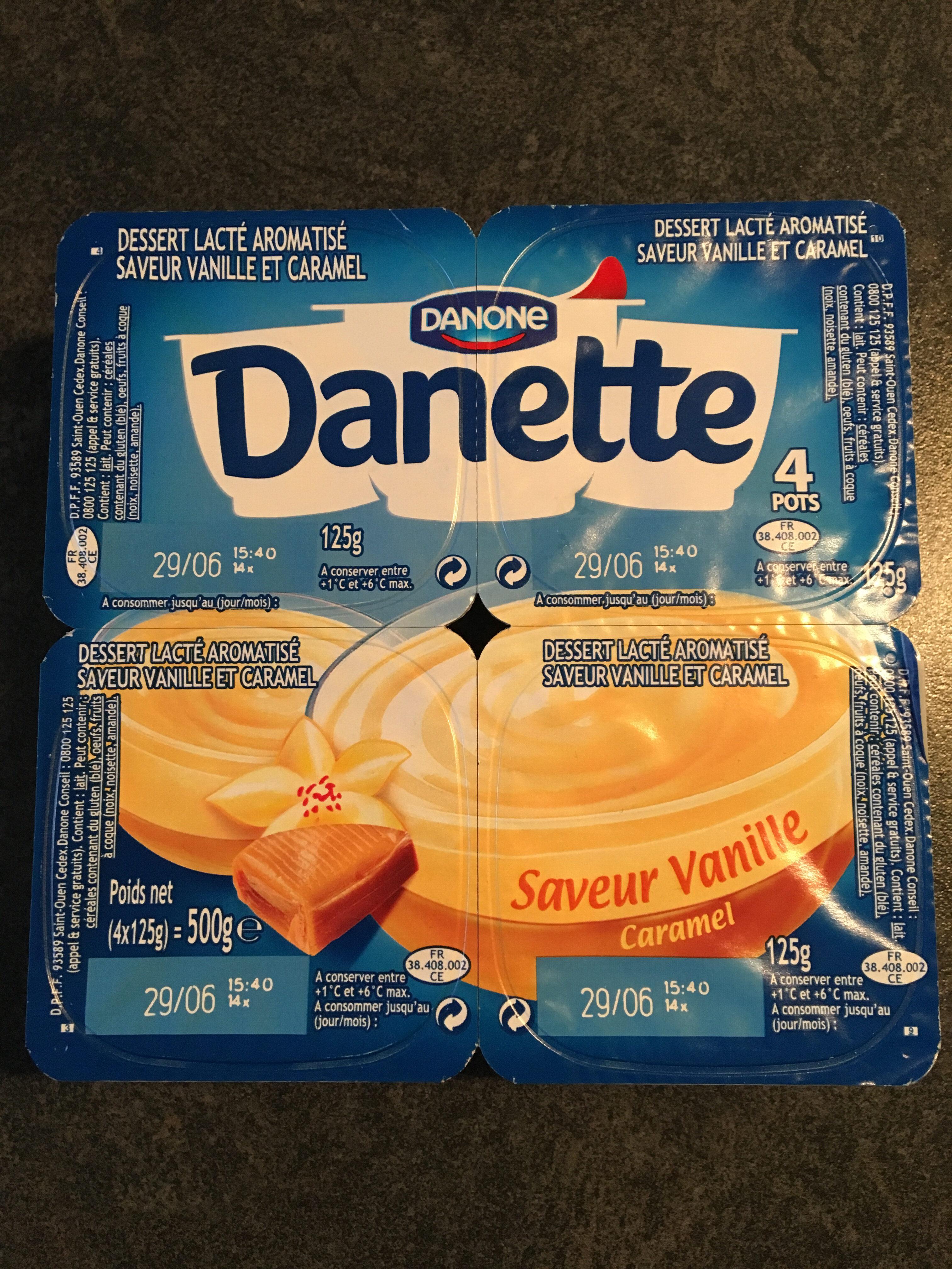 Dessert lacté aromatisé saveur vanille et caramel - Product