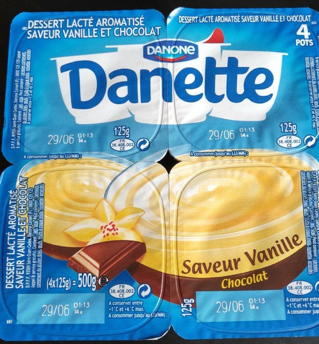 Danette saveur Vanille chocolat - Produit - fr