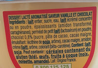 Danette saveur Vanille chocolat - Ingredients