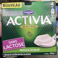 Activia au bifidus brassé nature sans lactose - Product - fr