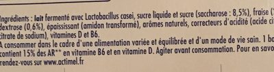 Actimel - Ingredients - fr