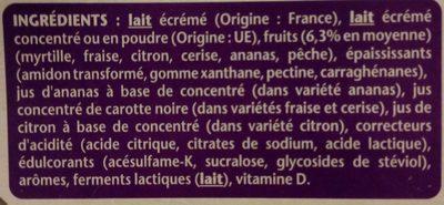 Taillefine aux fruits - Ingredients