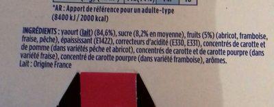 Velouté Fruix - Ingredients