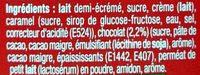 Danette Chocolat Cacahuètes - Ingrédients - fr