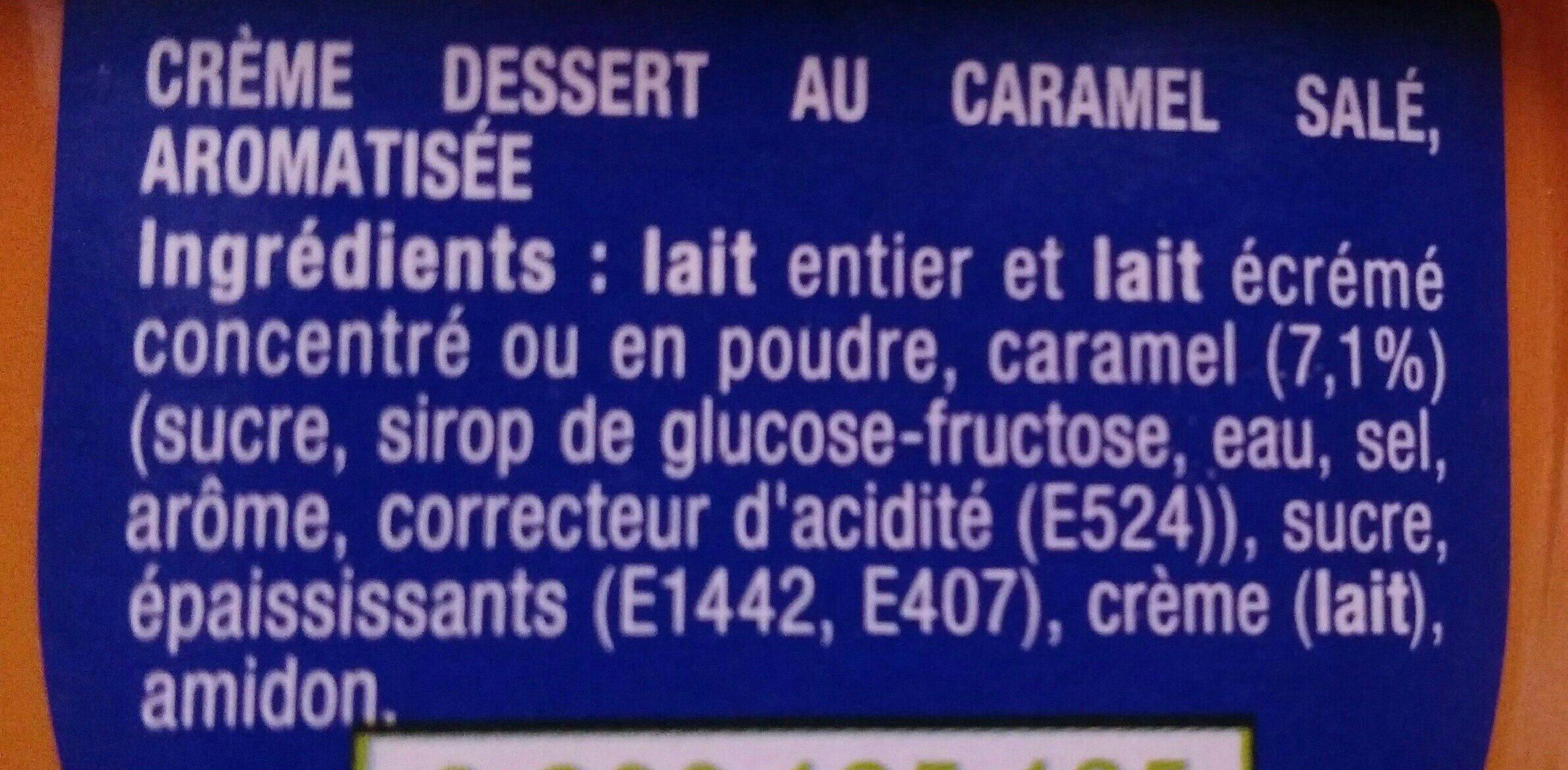 Danette Caramel salé - Ingrédients - fr