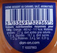 Danette Caramel salé - Informations nutritionnelles - fr