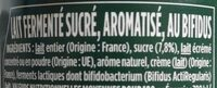 Activia saveur passion - Ingredients