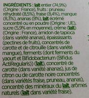 Activia au bifidus - Ingredienti - fr