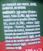 Activia fraise - Ingredients