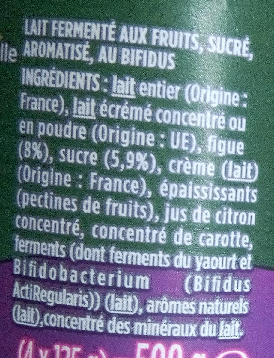 Bifidus figues - Ingredients