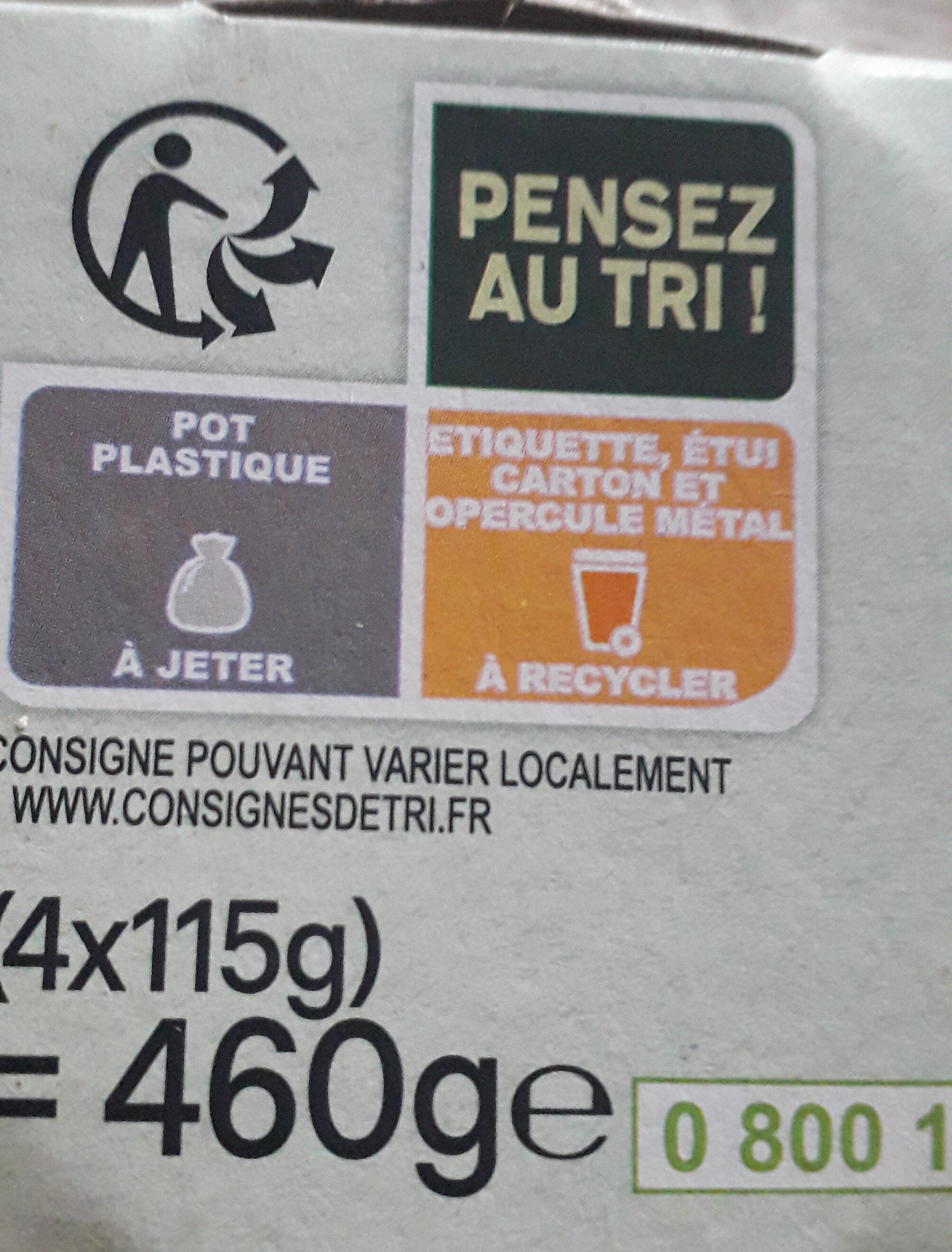 Activia Figues au Bifidus - Recycling instructions and/or packaging information - fr