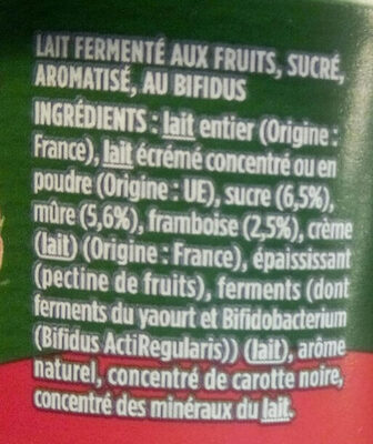Activia yaourt - Ingredients