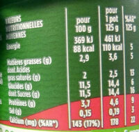 Activia yaourt - Nutrition facts