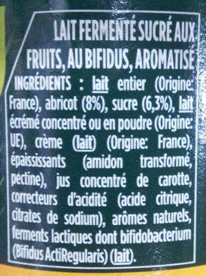 Activia abricot - Ingrediënten