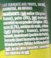 Poire - Ingrédients - fr