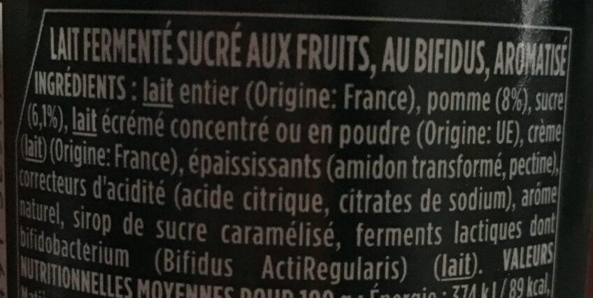 Activia Pomme - Ingredients