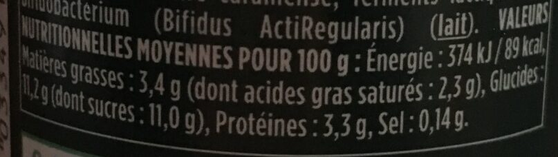 Activia Pomme - Nutrition facts