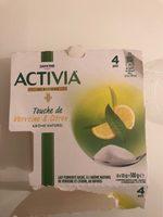 Activia touche citron verveine - Produit - fr