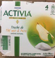 Activia Touche de Thé noir & Poire - Product