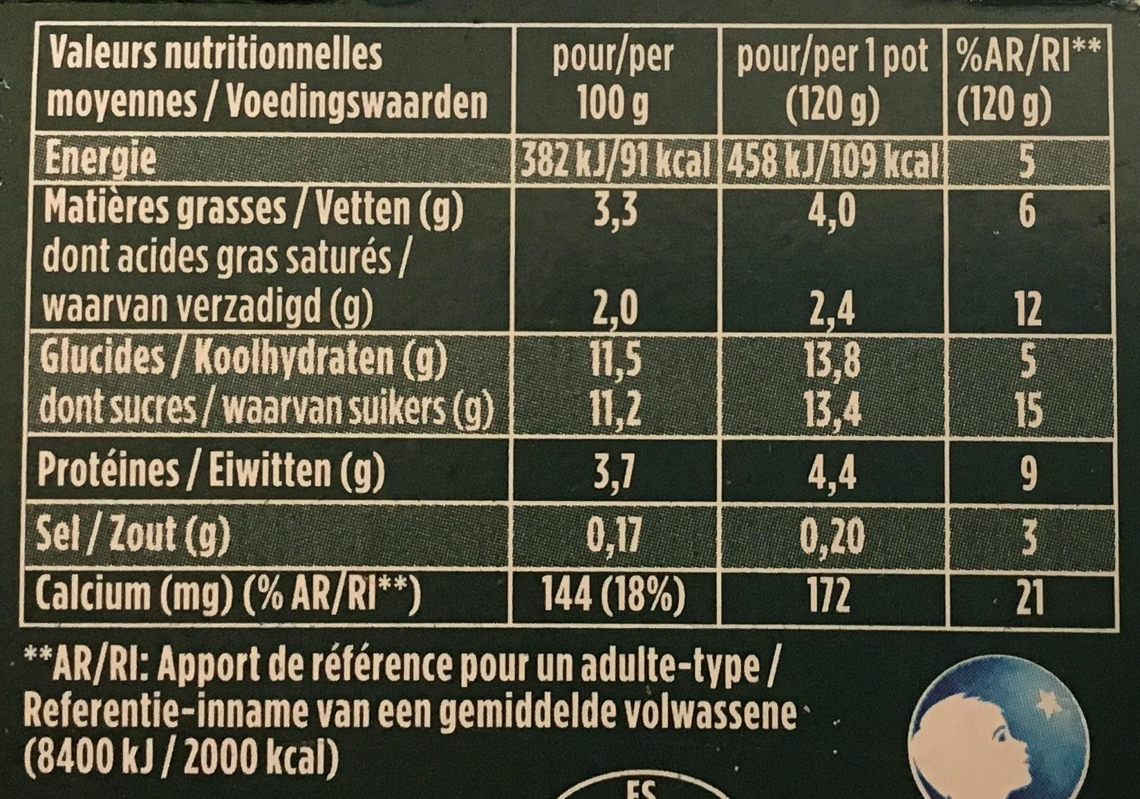 Activia Kiwi Citron Vert & Aloe Vera - Nutrition facts - fr