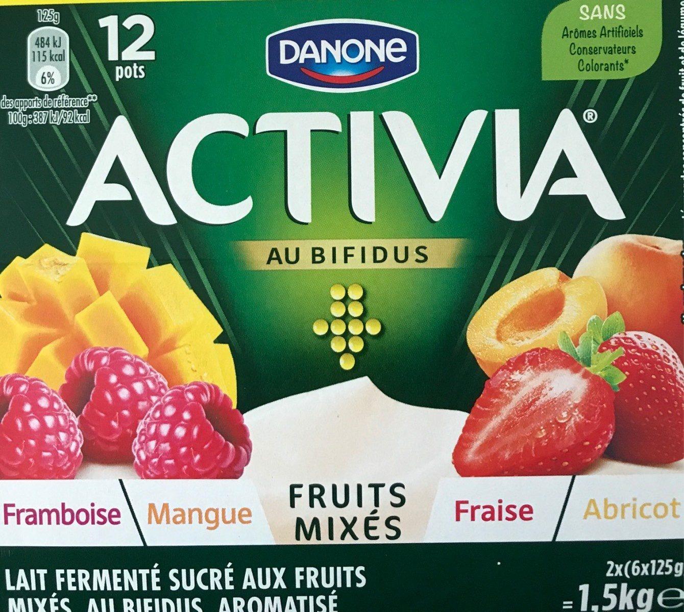 Activia au bifidus framboises mangue abricots fraises - Prodotto - fr