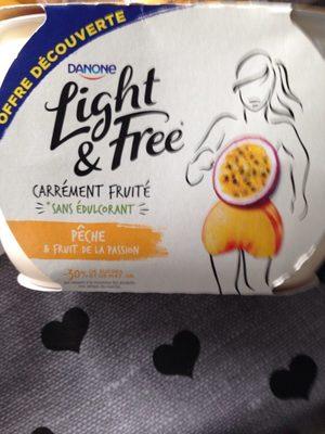Light & Free Pêche et fruit de la passion - Produit - fr