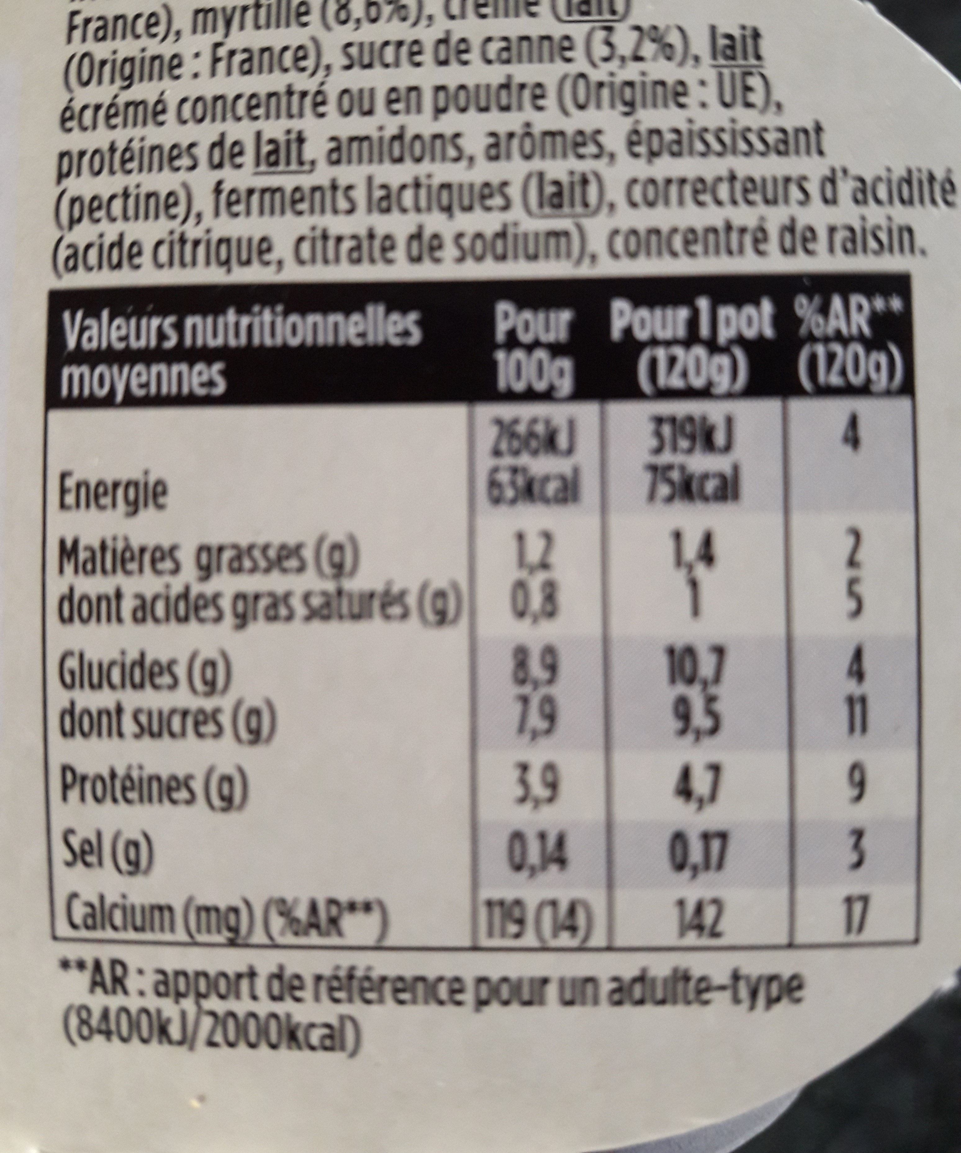 Light &free - Nutrition facts