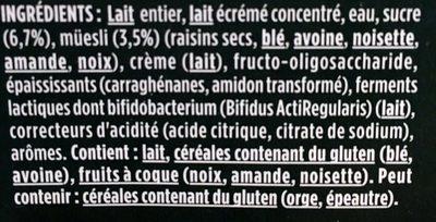 Activia céréales - Ingredients