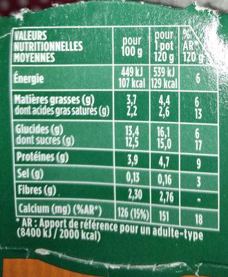 Activia céréales - Nutrition facts