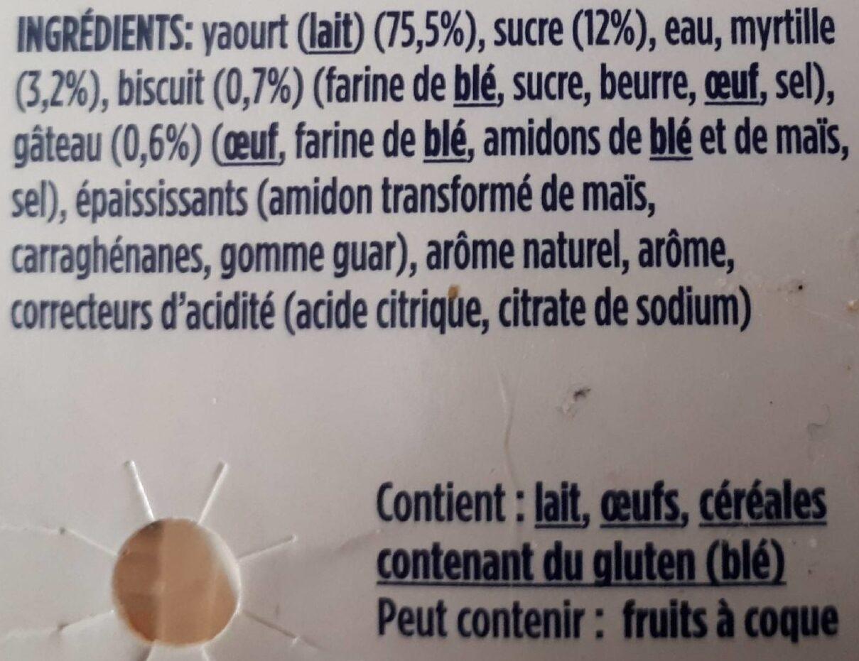 Oikos myrtille exquise - Ingredients
