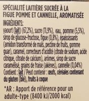 Oikos figues pomme cannelle - Ingredients