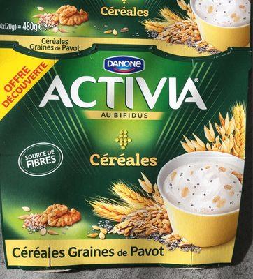 Activia bifidus cereales graines de pavot - Produit